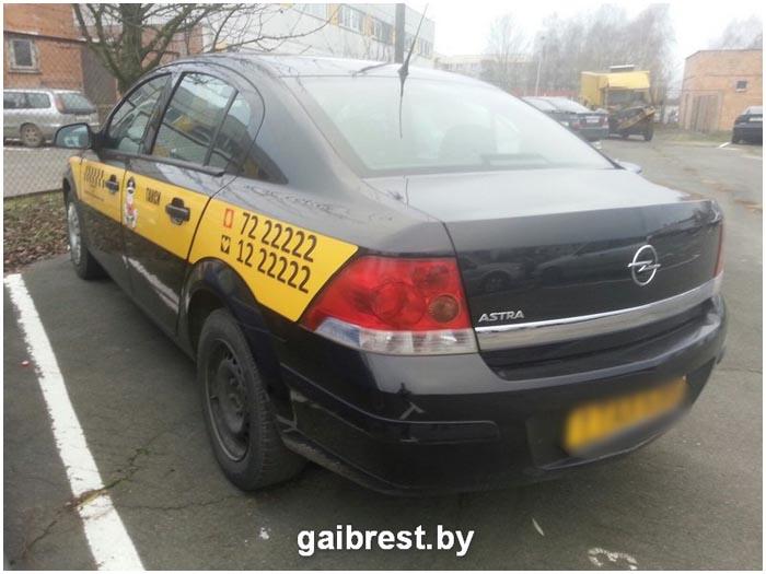 В Бресте задержан пьяный водитель такси