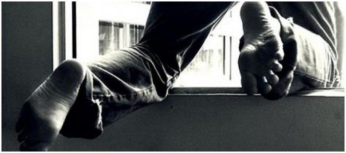 Вылез на балкон