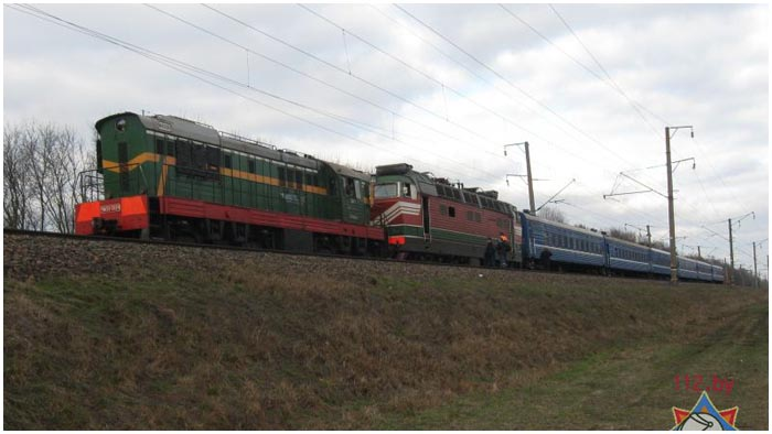 Возгорание в поезде Минск-Брест 16 марта 2016