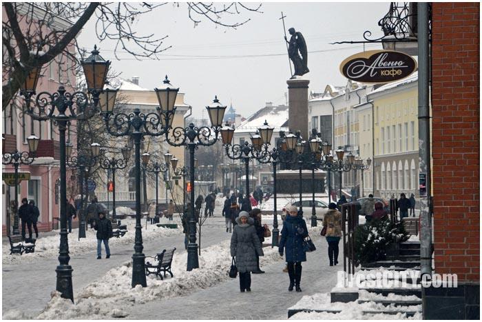 Брест. Улица Советская зимой. Фото BrestCITY.com