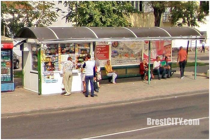 Автобусная остановка в Бресте