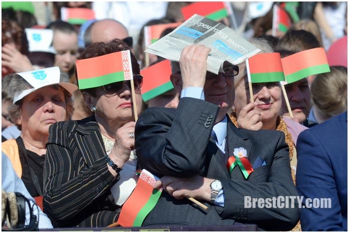 День флага и герба Беларуси 2016 в Бресте