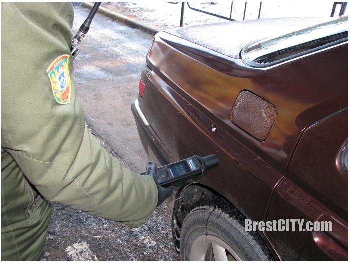 Дозиметры у пограничников в Бресте