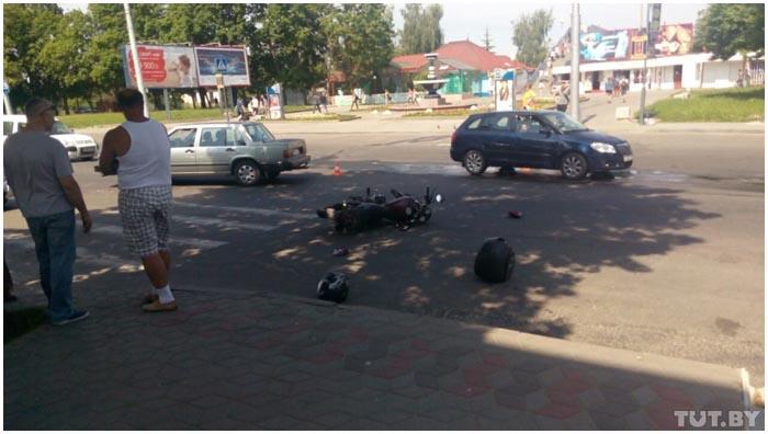 Авария на Орджоникидзе в Бресте 27 мая 2016