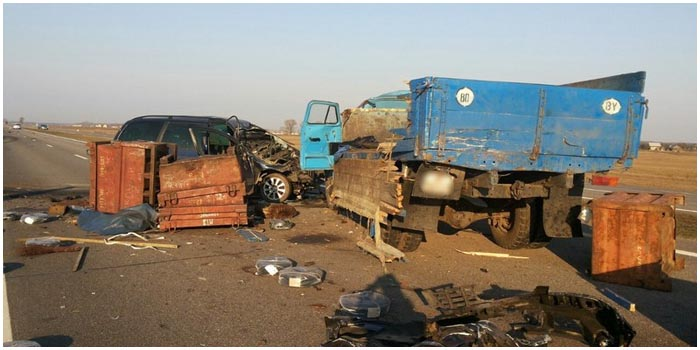 Авария в Березовском районе Брестской области 29 марта 2016
