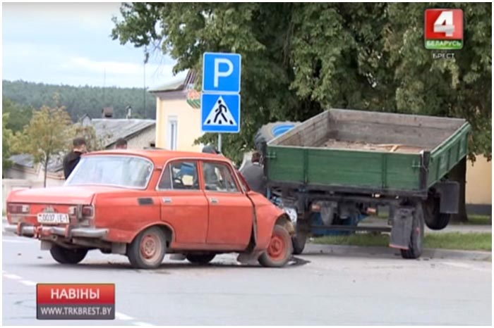 Авария в деревне Дмитровичи Каменецкого района