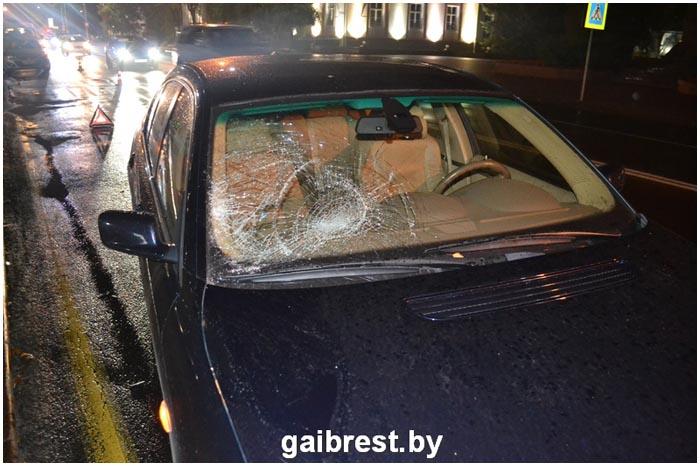 Авария на переходе на пл.Ленина в Бресте 3 октября 2016