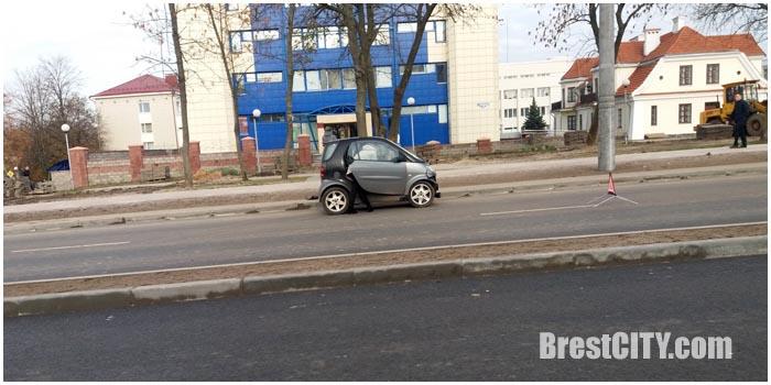 Авария на проспекте Машерова в Бресте 5 ноября 2016