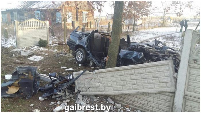 Авария в деревне Ставы