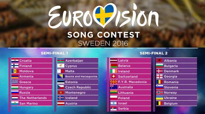 Евровидение 2016. Список стран-участниц