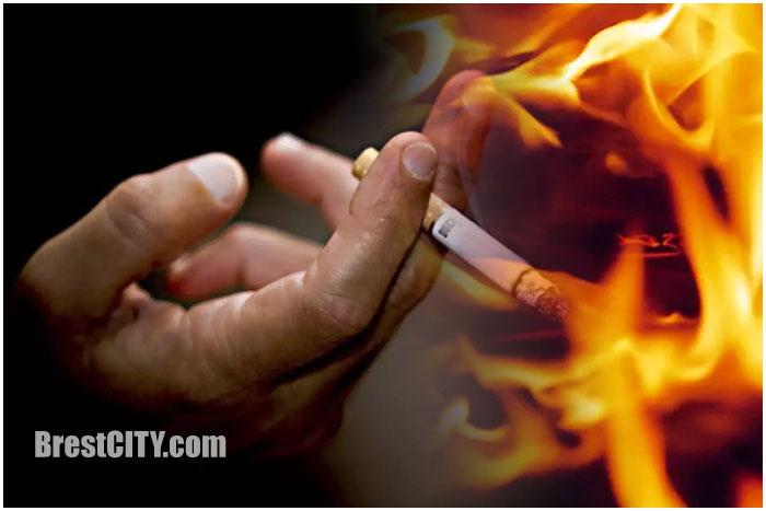 Пожар в Брестской области. Курение в постели