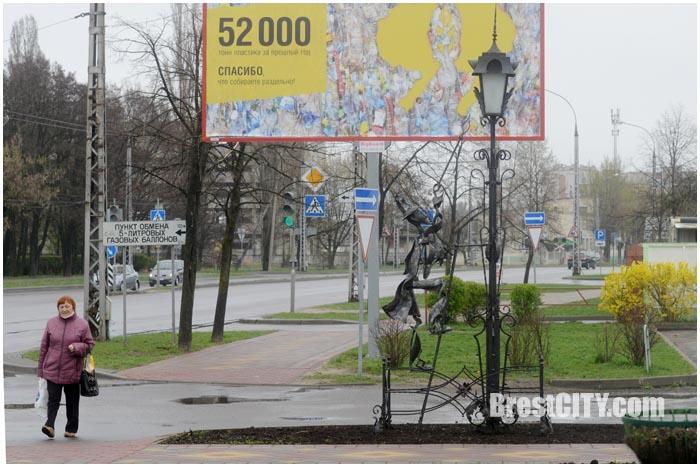 Брестский фонарщик переехал на ул.Янки Купалы