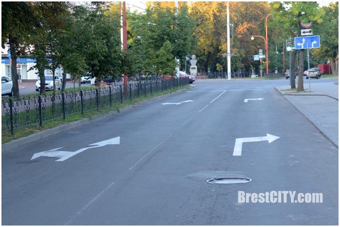 Изменилась организация движения на перекрестке Гоголя-Ленина. Фото BrestCITY.com