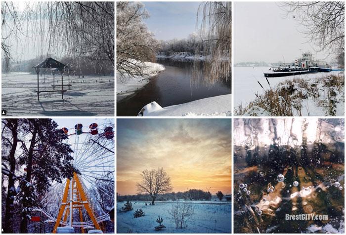 Зимние городские пейзажи Бреста