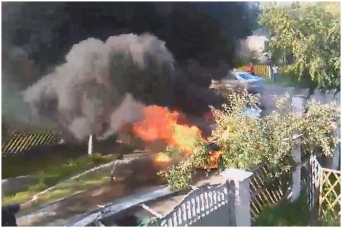 В Гершонах горел автомобиль КИА