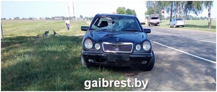 Мерседес насмерть сбил велосипедиста в Ганцевичском районе