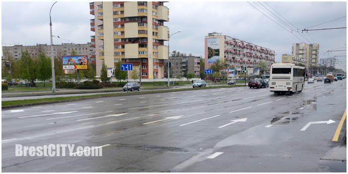 Новая разметка на улице Московской и Советской конституции