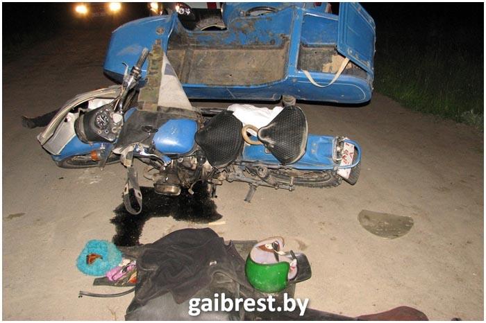 В Столинском районе разбился мотоциклист