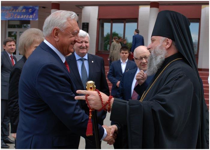 Мясникович в Бресте 21 мая 2016. Политеху 50 лет