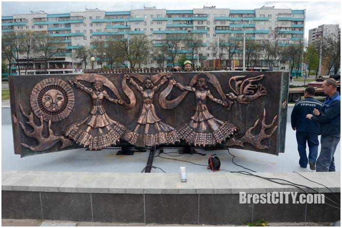 Обновленный фонтан в Бресте возле ДК Профсоююзов. Фото BrestCITY.com