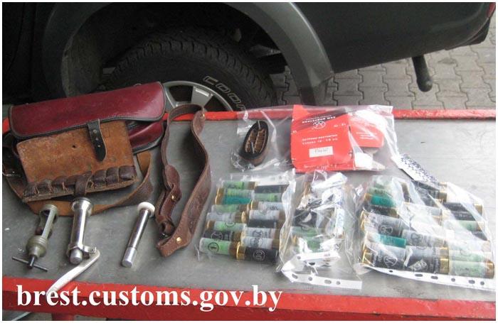 Патроны к охотничьему оружию задержаны на границе с Украиной