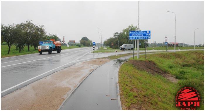 Обновленная дорога на Песчатку