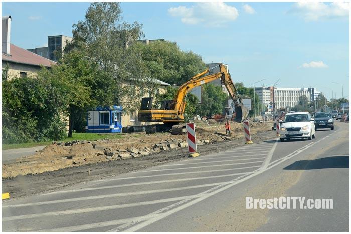 Реконструкция улицы Пионерской в Бресте. Фото BrestCITY.com