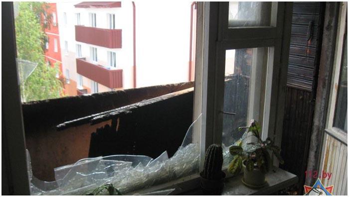 Пожар в Береза. Едва не погибла девочка