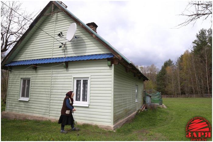 Единственная жительница деревни Глубокий угол в Беловежской пуще