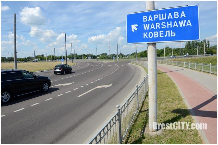 Новая разметка на кольце на Варшавке