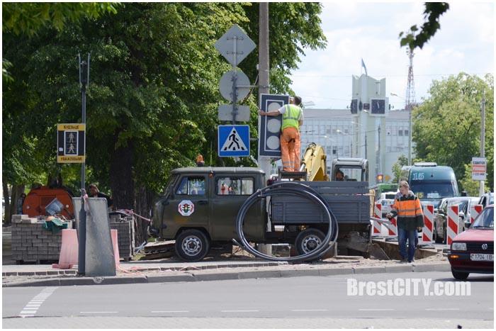 Реконструкция проспекта Машерова в Бресте. Фото BrestCITY.com