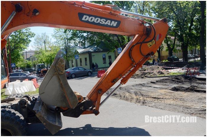 Реверсивное движение по улице Гоголя в Бресте. Фото BrestCITY.com
