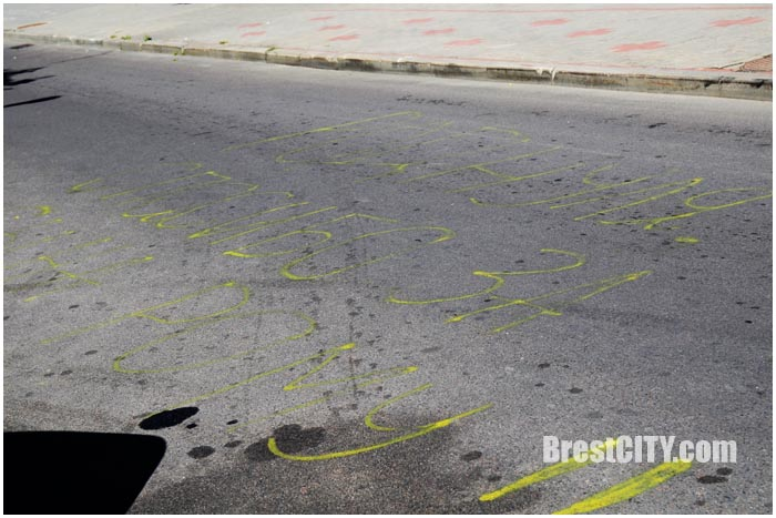 Бэби экран на улице Халтурина в Бресте. Фото BrestCITY.com