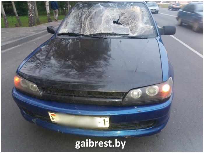 Авария на ул.Лейтенанта Рябцева в Бресте 26 сентября 2016