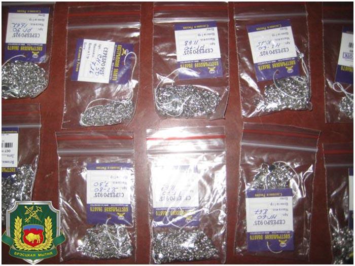 Серебряные изделия. Контрабанда через границу