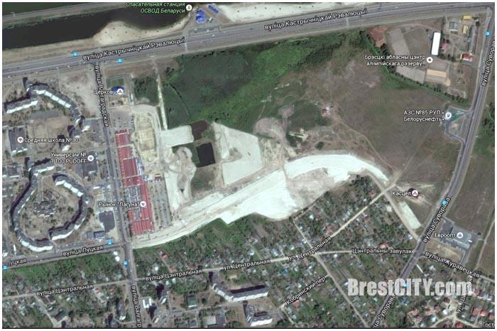 Стройка ЮВМР-4 в Бресте на Ковалевке