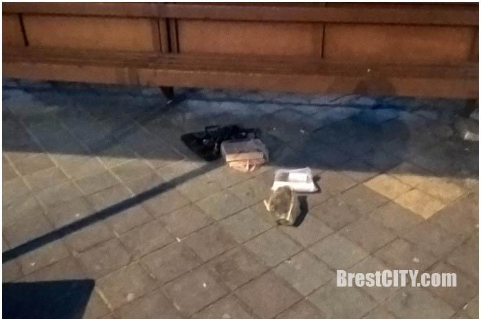 Разминирование бесхозной сумки на остановке Машерова в Бресте