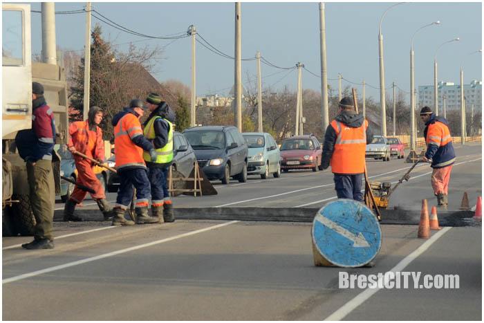 Искусственная неровность на ул.Суворова в Бресте. Фото BrestCITY.com