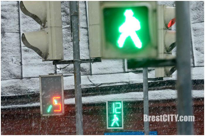 Сбой в работе светофора