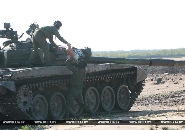 Танковый биатлон в Брестской области на полигоне Доманово