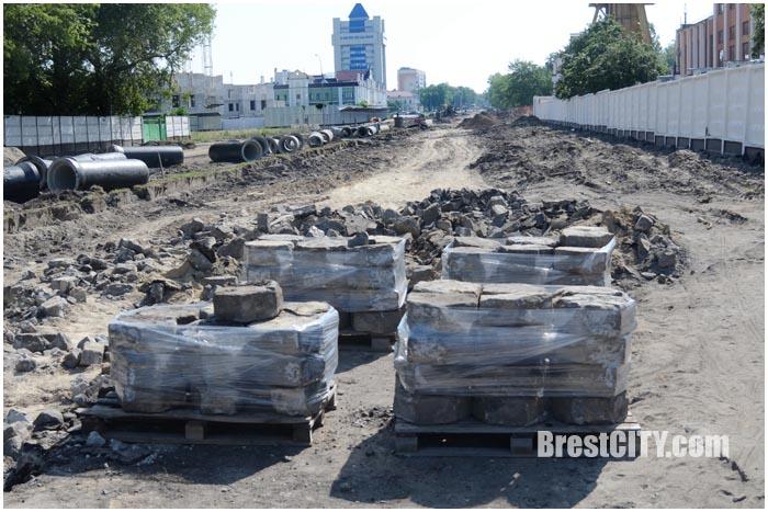 Плитка-трилинка на проспекте Машерова в Бресте. Фото BrestCITY.com