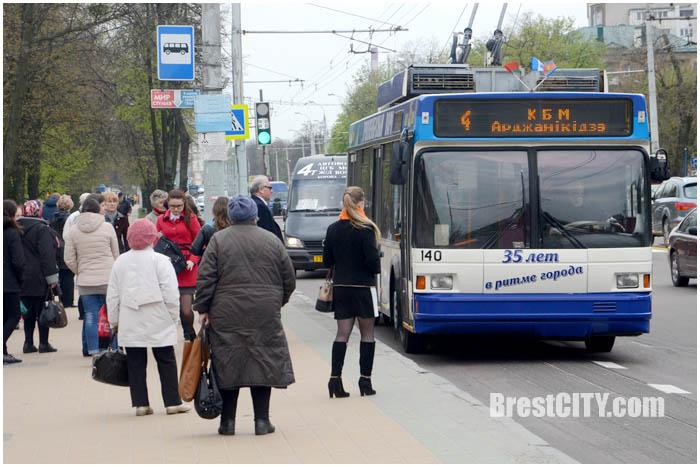 35 лет назад в Бресте запустили первый троллебус