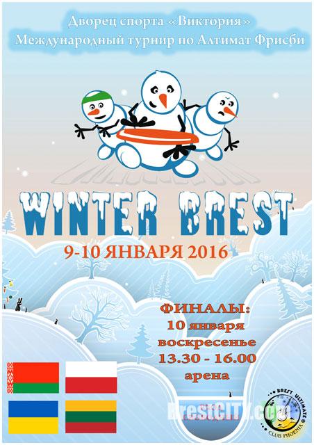Турнир по фрисби в Бресте 9-10 января 2016