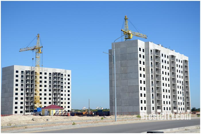Строительство нового микрорайона на Ковалевке. ЮВМР-4. Фото BrestCITY.com