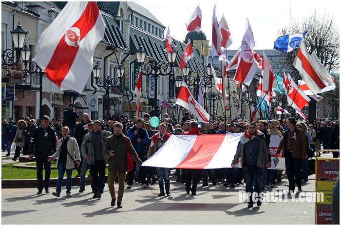 День Воли в Бресте 25 марта 2017. Фото BrestCITY.com