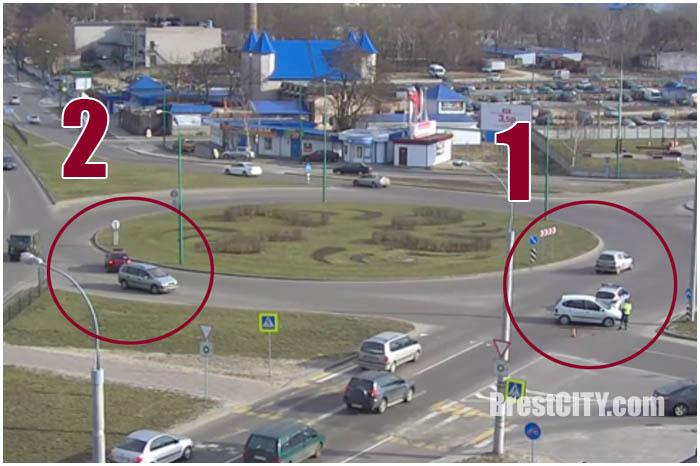 Две аварии на вульковском кольце в Бресте 14 марта 2017