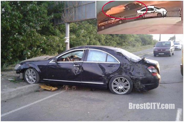 Авария с участием Мерседеса в Бресте