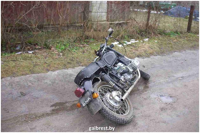Пьяный на мотоцикле