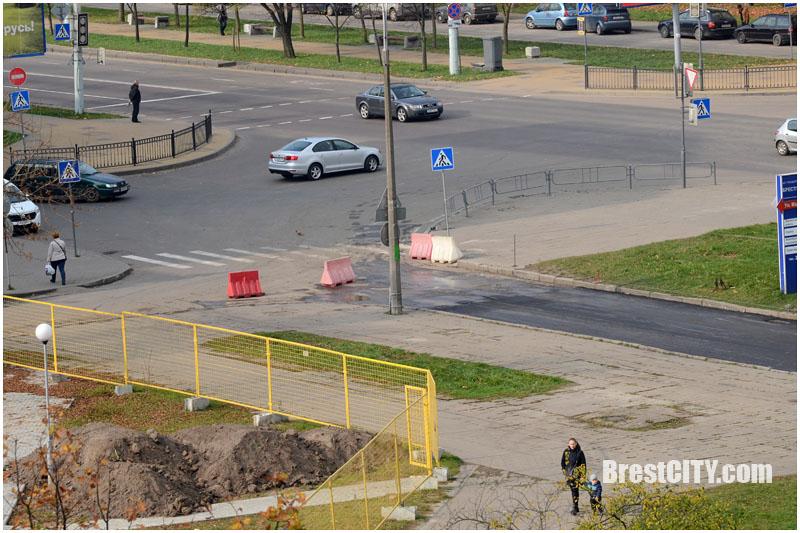 Закрыт проезд возле Кобринского моста в Бресте