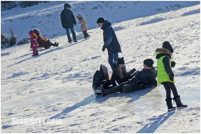 7 января 2017 года в Бресте. Мороз. Фото BrestCITY.com